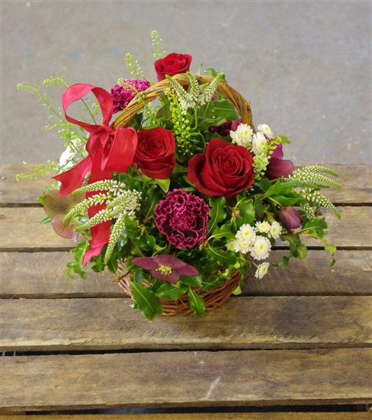 Walter Smith Flowers - A Beautiful Red Rose Basket