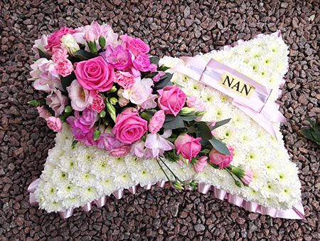 Funeral Flowers - Tribute Pillow